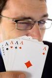 De kaarten van de winnaar Royalty-vrije Stock Afbeeldingen