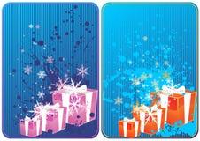 De kaarten van de winter Stock Foto's