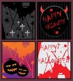 De kaarten van Halloween royalty-vrije illustratie