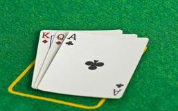 De kaarten van het casino Stock Foto's