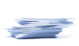 De kaarten van het document Stock Foto