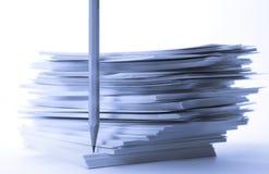 De kaarten van het document Stock Fotografie
