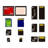 De Kaarten van het geheugen. Stock Foto's