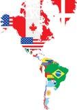 Overzichtskaarten van de landen  Royalty-vrije Stock Afbeelding