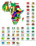 Overzichtskaarten van de landen  Royalty-vrije Stock Foto