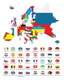 Overzichtskaarten van de landen Stock Fotografie