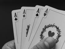 De kaarten van het spel Stock Afbeelding