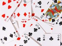 De kaarten van het spel Royalty-vrije Stock Afbeeldingen