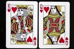 De Kaarten van het spel Stock Afbeeldingen