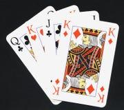 De kaarten van het spel Royalty-vrije Stock Foto's