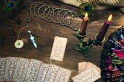 De kaarten van het tarot stock afbeelding
