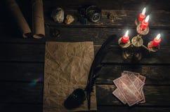 De kaarten van het tarot royalty-vrije stock foto's
