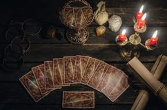 De kaarten van het tarot royalty-vrije stock afbeelding