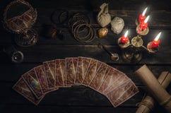 De kaarten van het tarot stock foto