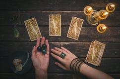 De kaarten van het tarot royalty-vrije stock foto
