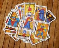 De kaarten van het tarot stock afbeeldingen