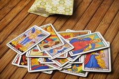 De kaarten van het tarot Stock Foto's