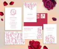 De kaarten van de huwelijkskantoorbehoeften stock illustratie