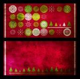 De kaarten van Kerstmis grunge Stock Foto's