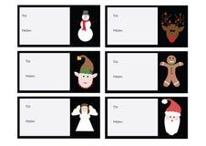 6 de Kaarten van de Kerstmisgift stock fotografie