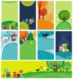De kaarten van Pasen van de lente Royalty-vrije Stock Afbeeldingen