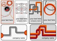 De kaartenmalplaatjes van Bussines Stock Afbeeldingen