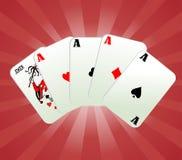 De vector van spelkaarten Stock Foto