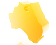 De kaartillustratie van Australië stock illustratie