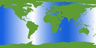 De kaartillustratie van de aarde Stock Afbeeldingen
