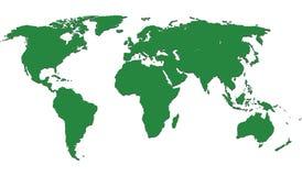 De kaartIllustratie van de wereld Stock Fotografie