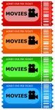 De kaartjes van de film Royalty-vrije Stock Afbeelding