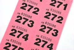 De kaartjes van de loterij Stock Foto's
