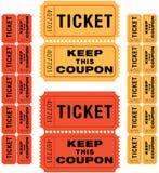 De kaartjes van de loterij Royalty-vrije Stock Fotografie