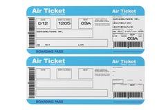 De kaartjes van de luchtvaartlijn instapkaart vector illustratie