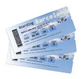 De kaartjes van de luchtvaartlijn instapkaart Stock Afbeelding