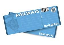 De kaartjes van de trein Stock Fotografie