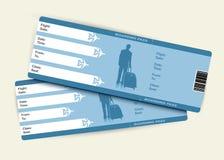 De kaartjes van het vliegtuig stock illustratie
