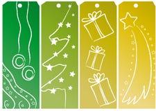 De kaartjes van Kerstmis Stock Foto