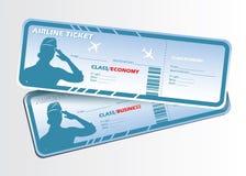 De kaartjes van luchtvaartlijnen royalty-vrije illustratie