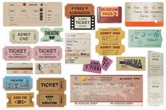 De kaartjesinzameling van de wereldreiziger stock illustratie