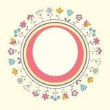 De kaartmalplaatje van de babydouche Stock Afbeeldingen