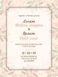 De kaartmalplaatje van de huwelijksuitnodiging stock illustratie