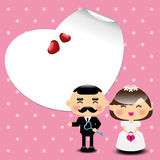 De kaartmalplaatje van de huwelijksuitnodiging Royalty-vrije Stock Fotografie