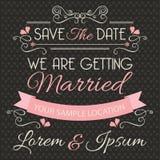 De kaartmalplaatje van de huwelijksuitnodiging Royalty-vrije Stock Foto