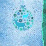 De kaartmalplaatje van de Kerstmisuitnodiging. EPS 8 Stock Foto's