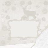 De kaartmalplaatje van de Kerstmisuitnodiging. EPS 8 Royalty-vrije Stock Afbeeldingen