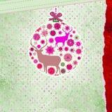 De kaartmalplaatje van de Kerstmisuitnodiging. EPS 8 Stock Fotografie