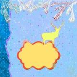 De kaartmalplaatje van de Kerstmisuitnodiging. EPS 8 Royalty-vrije Stock Afbeelding