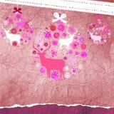 De kaartmalplaatje van de Kerstmisuitnodiging. EPS 8 Stock Foto