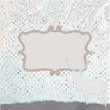 De kaartmalplaatje van de Kerstmisuitnodiging. EPS 8 Royalty-vrije Stock Fotografie
